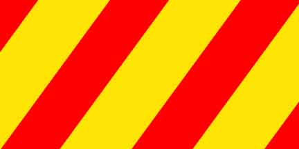 FLG SYR - Yellow/Red Striped Flagging